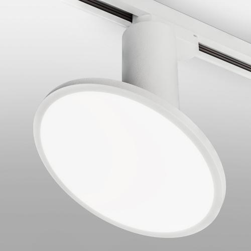 Трековый светодиодный светильник для однофазного шинопровода Brain Белый 12W 4200K LTB50