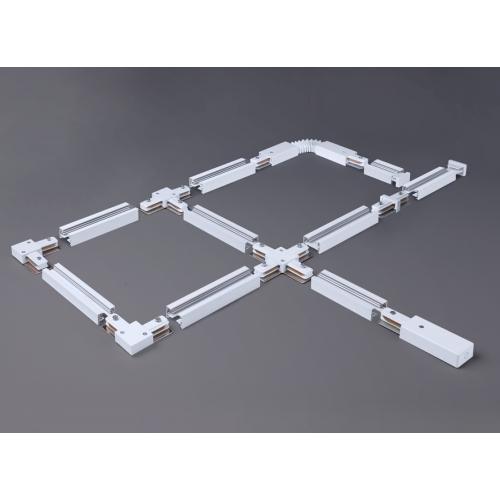 Ввод питания и заглушка торцевая для однофазного шинопровода белый TRP-1-1-WH