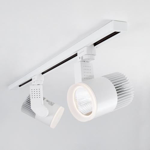 Трековый светодиодный светильник для однофазного шинопровода Accord 30W Белый 4200K LTB20