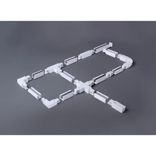 Коннектор угловой для трехфазного шинопровода белый TRC-1-3-L-WH