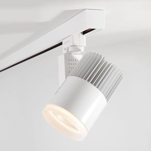 Трековый светодиодный светильник для трехфазного шинопровода Accord Белый 30W 4200K LTB43