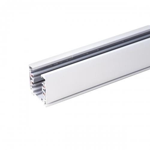Трехфазный шинопровод (с вводом питания и заглушкой) TRL-1-3-100-WH 1 метр белый