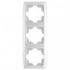 Рамка 3-ая (85х220 мм) вертикальная Viko Carmen белый 90571003