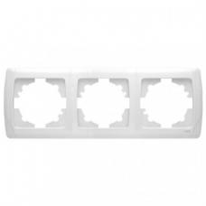 Рамка 3-ая (85х220 мм) горизонтальная Viko Carmen белый 90571103