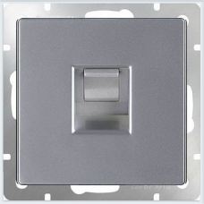Розетка Ethernet RJ-45 (серебряный) Werkel WL06-RJ-45