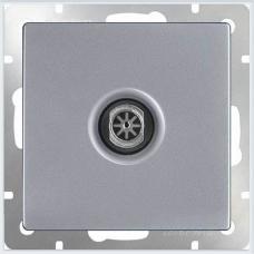 ТВ-розетка оконечная (серебряный) Werkel WL06-TV