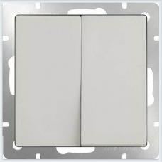 Выключатель двухклавишный проходной (белый) Werkel WL01-SW-2G-2W