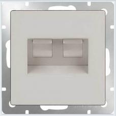 Розетка двойная Ethernet RJ-45 (белая) Werkel WL01-RJ45+RJ45