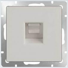 Телефонная розетка RJ-11 (белая) Werkel WL01-RJ-11
