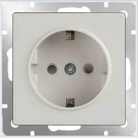 Розетка с заземлением (белая) Werkel WL01-SKG-01-IP20