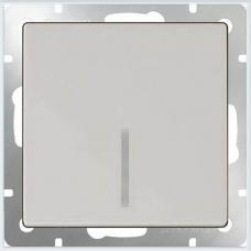 Выключатель одноклавишный проходной с подсветкой (белый) Werkel WL01-SW-1G-2W-LED