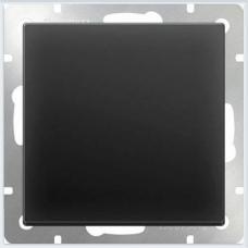 Выключатель одноклавишный (черный матовый) Werkel WL08-SW-1G