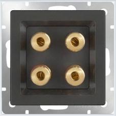 Акустическая розетка (черный матовый) Werkel WL08-AUDIOx4