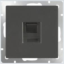 Розетка Ethernet RJ-45 (черный матовый) Werkel WL08-RJ-45