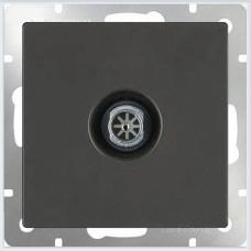 ТВ-розетка проходная (черный матовый) Werkel WL08-TV-2W