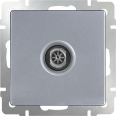 ТВ-розетка проходная (серебряный) Werkel WL06-TV-2W