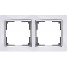 Рамка на 2 поста (белый) Werkel WL03-Frame-02-white