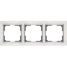 Рамка на 3 поста (белый) Werkel WL03-Frame-03-white