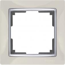 Рамка на 1 пост (слоновая кость) Werkel WL03-Frame-01-ivory