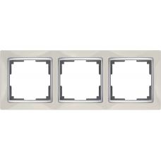 Рамка на 3 поста (слоновая кость) Werkel WL03-Frame-03-ivory