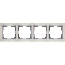 Рамка на 4 поста (слоновая кость) Werkel WL03-Frame-04-ivory