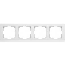 Рамка на 4 поста (белый) Werkel WL04-Frame-04-white