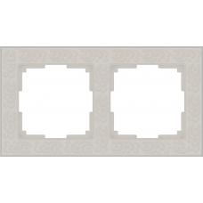 Рамка на 2 поста (белый) Werkel WL05-Frame-02-white