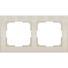 Рамка на 2 поста (слоновая кость) Werkel WL05-Frame-02-ivory