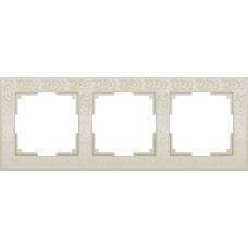 Рамка на 3 поста (слоновая кость) Werkel WL05-Frame-03-ivory