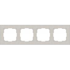 Рамка на 4 поста (слоновая кость) Werkel WL05-Frame-04-ivory