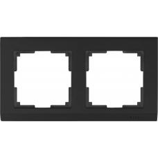 Рамка на 2 поста (черный) Werkel WL04-Frame-02-silver/black
