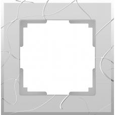 Рамка на 1 пост (серебряный) Werkel WL06-Frame-01