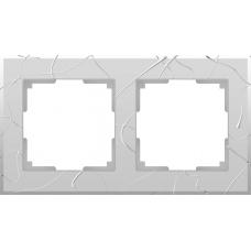Рамка на 2 поста (серебряный) Werkel WL06-Frame-02