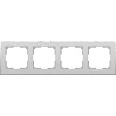 Рамка на 4 поста (серебряный) Werkel WL06-Frame-04