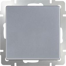 Выключатель одноклавишный (серебряный) Werkel WL06-SW-1G