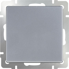 Выключатель одноклавишный проходной (серебряный) Werkel WL06-SW-1G-2W