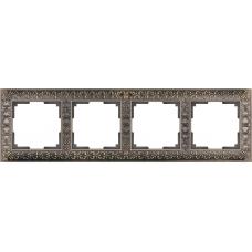 Рамка на 4 поста (бронза) Werkel WL07-Frame-04