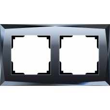 Рамка на 2 поста (черный) Werkel WL08-Frame-02
