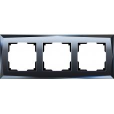 Рамка на 3 поста (черный) Werkel WL08-Frame-03