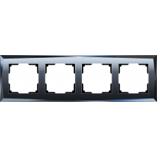 Рамка на 4 поста (черный) Werkel WL08-Frame-04
