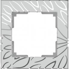 Рамка на 1 пост (серебряный) Werkel WL09-Frame-01