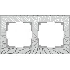 Рамка на 2 поста (серебряный) Werkel WL09-Frame-02