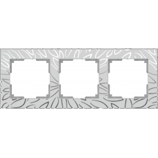 Рамка на 3 поста (серебряный) Werkel WL09-Frame-03