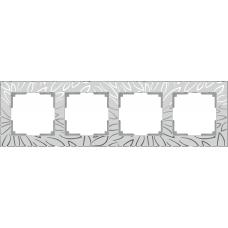 Рамка на 4 поста (серебряный) Werkel WL09-Frame-04