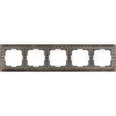 Рамка на 5 постов (бронза) Werkel WL07-Frame-05