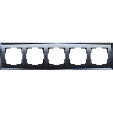 Рамка на 5 постов (черный) Werkel WL08-Frame-05