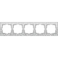 Рамка на 5 постов (серебряный) Werkel WL09-Frame-05