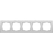 Рамка на 5 постов (серебряный) Werkel WL06-Frame-05