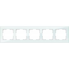 Рамка на 5 постов (натуральное стекло) Werkel WL01-Frame-05