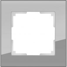 Рамка на 1 пост (серый,стекло) Werkel WL01-Frame-01